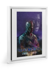 Death is not the end Floating Framed Canvas Prints White tile