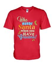 Who need santa when you have Grandma V-Neck T-Shirt thumbnail