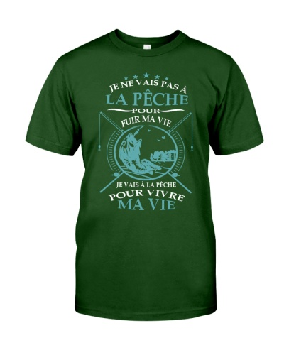 Tee Shirt la pêche est ma vie humoristique