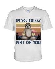 EFF WHY V-Neck T-Shirt thumbnail