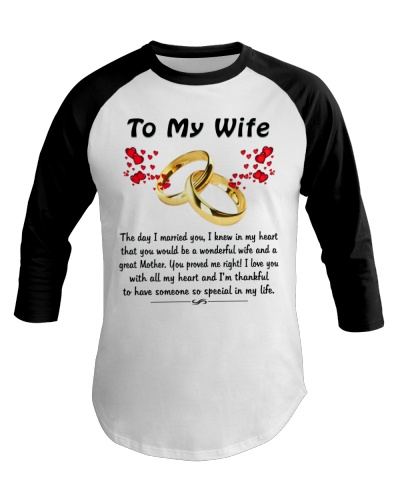 To My Wife - You proved me right