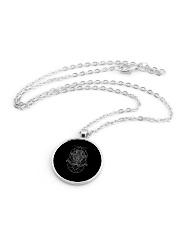 Aquarius Sigh Metallic Circle Necklace aos-necklace-circle-metallic-lifestyle-03