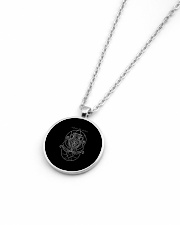 Aquarius Sigh Metallic Circle Necklace aos-necklace-circle-metallic-lifestyle-04