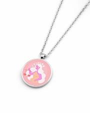 Libra Sign Metallic Circle Necklace aos-necklace-circle-metallic-lifestyle-04