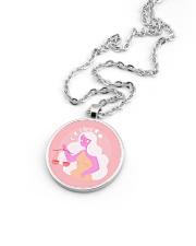 Libra Sign Metallic Circle Necklace aos-necklace-circle-metallic-lifestyle-05