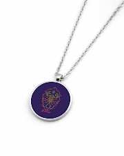 Scorpio Sign Metallic Circle Necklace aos-necklace-circle-metallic-lifestyle-04