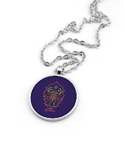 Scorpio Sign Metallic Circle Necklace aos-necklace-circle-metallic-lifestyle-05