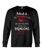 Books Are Better With Dragons Crewneck Sweatshirt thumbnail