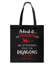 Books Are Better With Dragons Tote Bag thumbnail