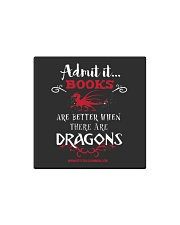 Books Are Better With Dragons Square Magnet thumbnail