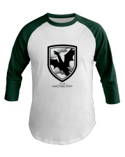 Fly with the dragons of Sanctuary Texas Baseball Tee front