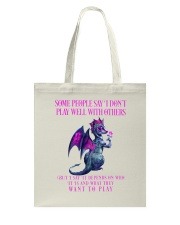 Dragon Wants to Play Tote Bag thumbnail