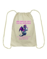 Dragon Wants to Play Drawstring Bag thumbnail