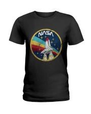 USA Space Agency Vintage Colors V03 T-Shirt Ladies T-Shirt thumbnail