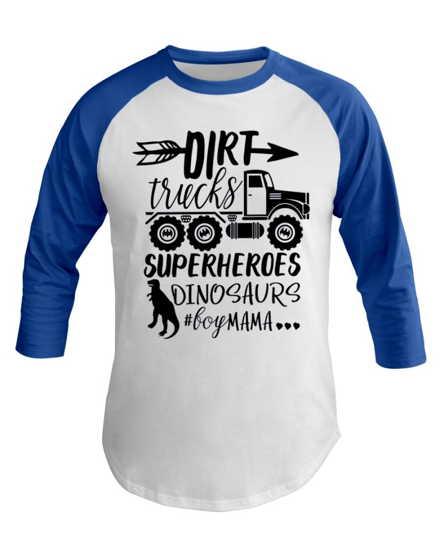Dirt Truck Mom Baseball Tee
