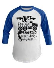 Dirt Truck Mom Baseball Tee front
