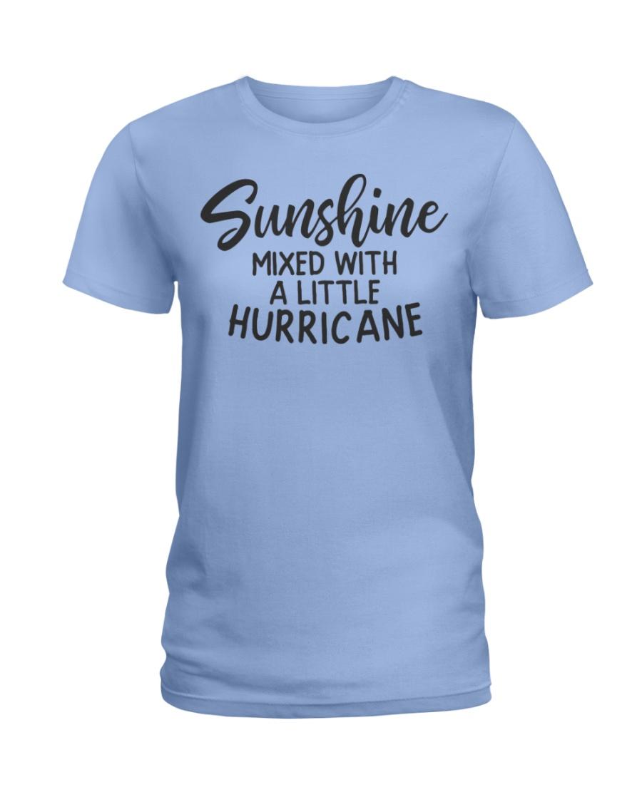 Sunshine Mixed With Hurricane Ladies T-Shirt