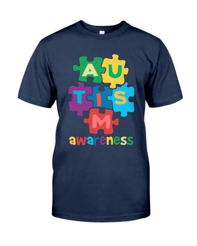 Autism Awareness Colorful Pieces