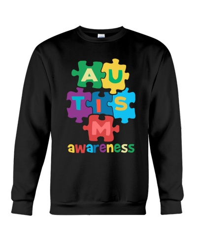 Autism Awareness Colorful Pieces