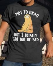 Sloth Not To Brag Classic T-Shirt apparel-classic-tshirt-lifestyle-28