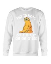 Sloth Not To Brag Crewneck Sweatshirt thumbnail