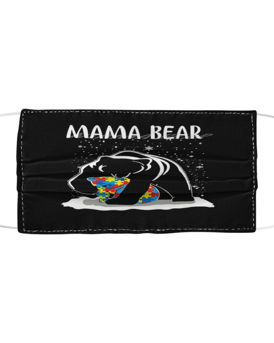 Mama Bear-Autism Cloth face mask