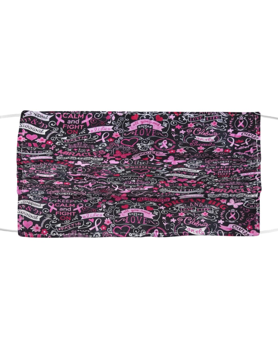 Breast Cancer 05 Cloth face mask