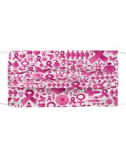 Breast Cancer 13 Cloth face mask front