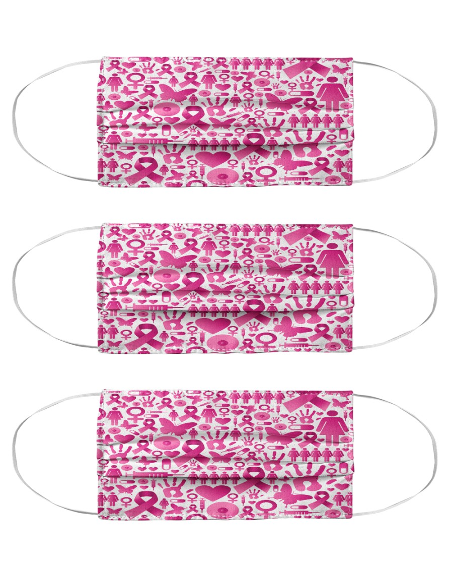 Breast Cancer 13 Cloth Face Mask - 3 Pack