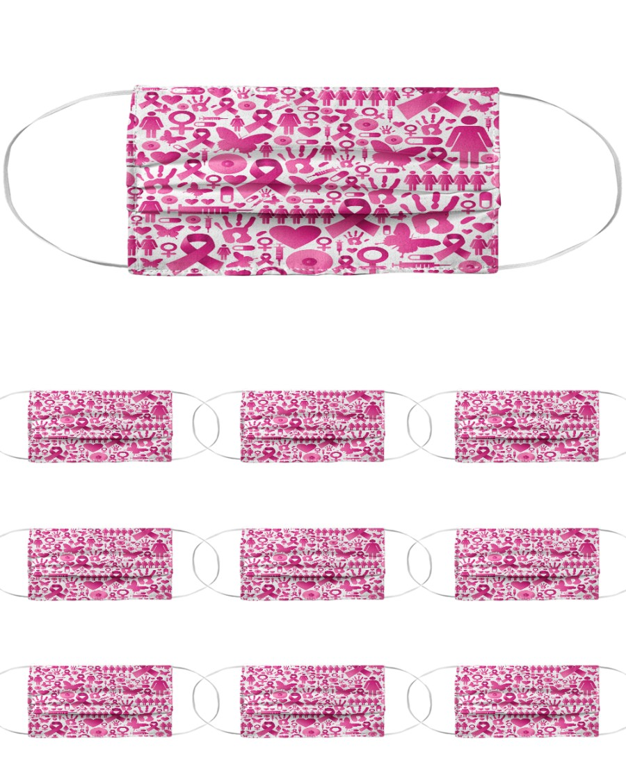 Breast Cancer 13 Cloth Face Mask - 10 Pack