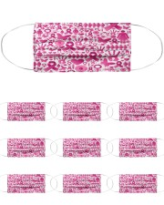 Breast Cancer 13 Cloth Face Mask - 10 Pack front