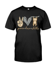 Peace Love Sloths Classic T-Shirt front