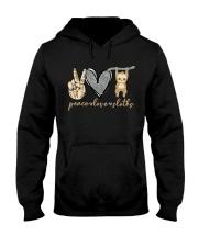 Peace Love Sloths Hooded Sweatshirt thumbnail