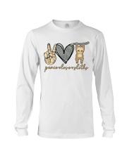 Peace Love Sloths Long Sleeve Tee thumbnail