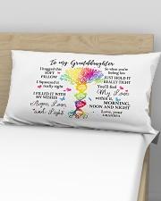 To my Granddaughter Grandpa Rectangular Pillowcase aos-pillow-rectangular-front-lifestyle-02