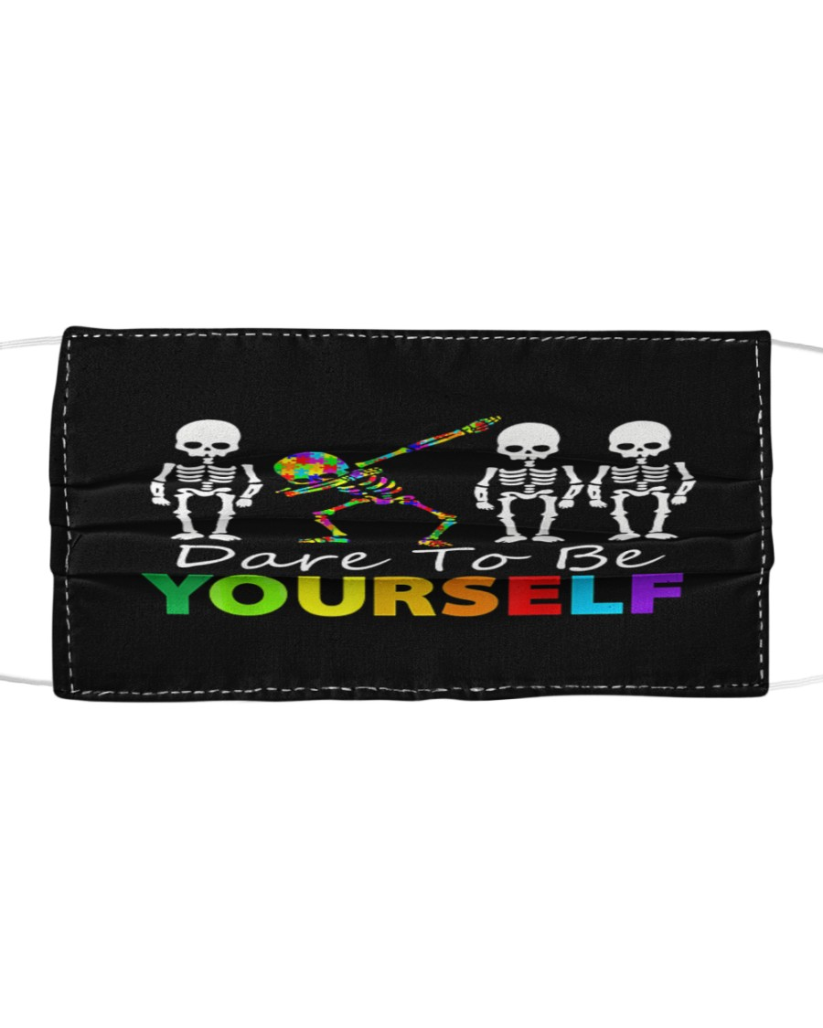 Skeleton Dabbing Dare To Be Yourself Cloth face mask