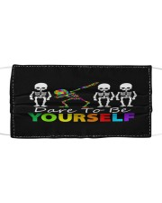 Skeleton Dabbing Dare To Be Yourself Cloth face mask front