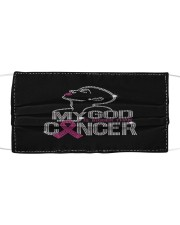 Breast Cancer 09 Cloth face mask front