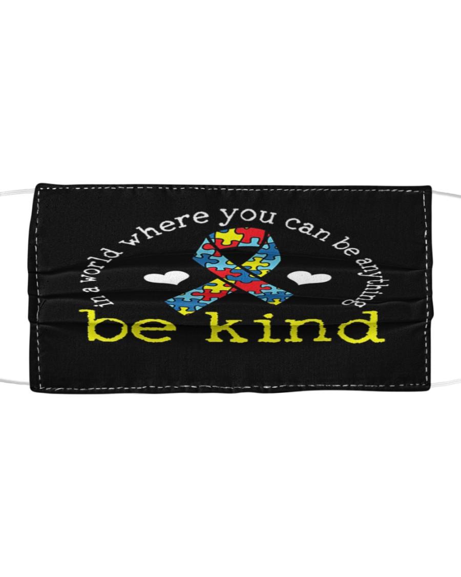 Autism Awareness Kindness Ribbon Heart Cloth face mask