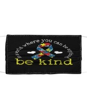 Autism Awareness Kindness Ribbon Heart Cloth face mask front
