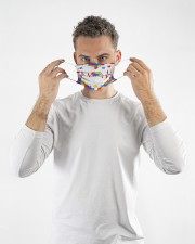 Autism-Heart Beat Cloth face mask aos-face-mask-lifestyle-08