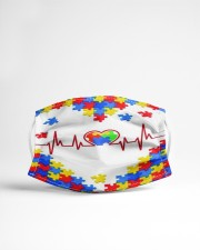 Autism-Heart Beat Cloth face mask aos-face-mask-lifestyle-22