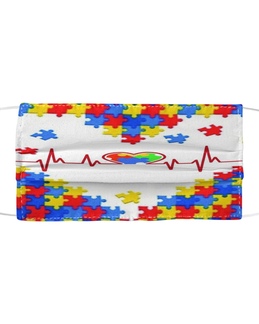 Autism-Heart Beat Cloth face mask