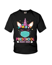 Quarantine Unicorn Preschool Youth T-Shirt front