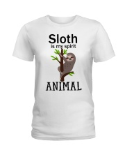 Sloth is my spirit animal Ladies T-Shirt thumbnail