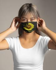 Hair Hustler Sunflower Cloth face mask aos-face-mask-lifestyle-16