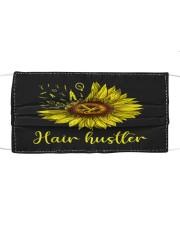 Hair Hustler Sunflower Cloth face mask front