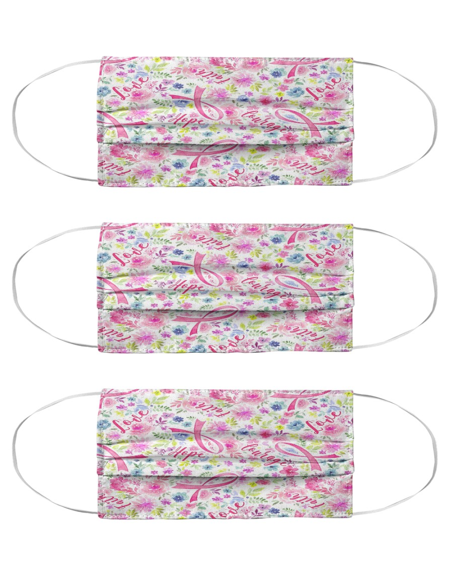 Breast Cancer 08 Cloth Face Mask - 3 Pack