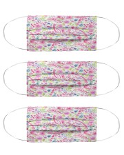 Breast Cancer 08 Cloth Face Mask - 3 Pack front