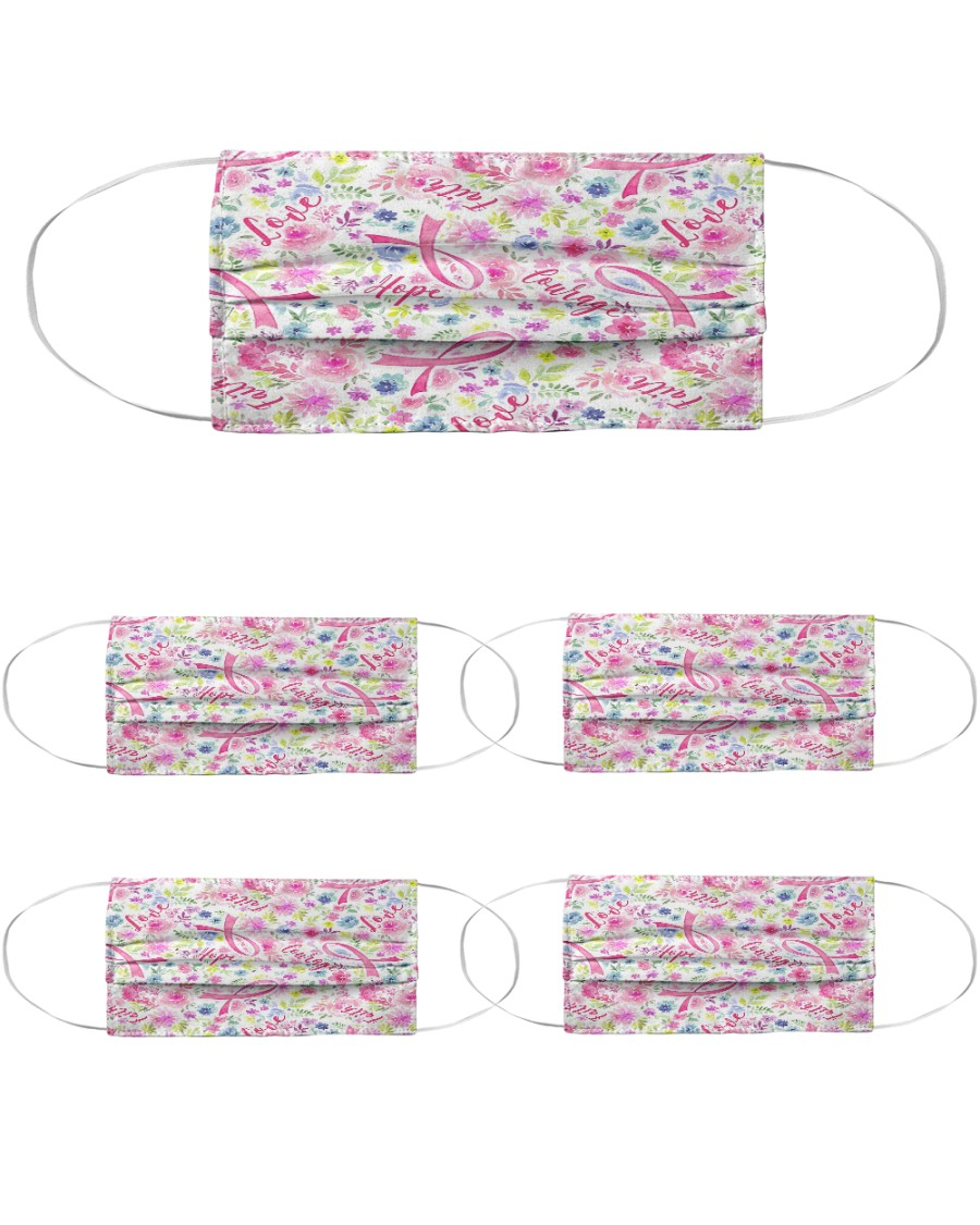 Breast Cancer 08 Cloth Face Mask - 5 Pack